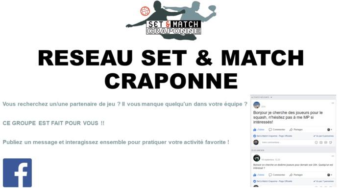 RESEAU SET & MATCH CRAPONNE