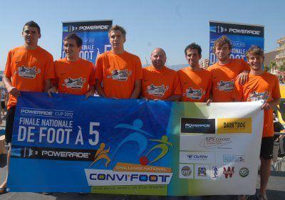 Set & Match Craponne parmi les meilleurs équipes de Foot à 5 au challenge Convifoot !