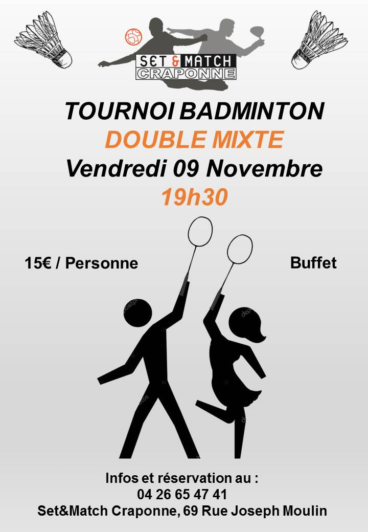 TOURNOI BADMINTON DOUBLE MIXTE