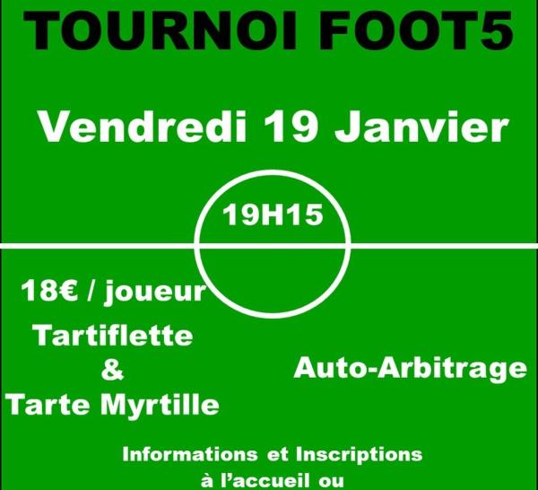 TOURNOI FOOT5