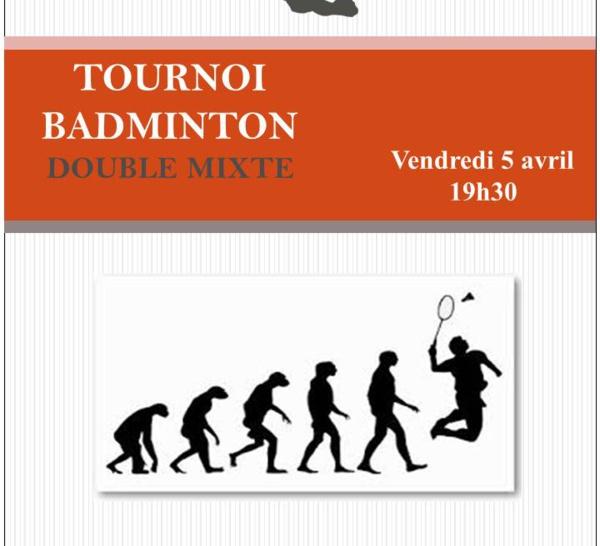 NOUVELLE EDITION BADMINTON DOUBLE MIXTE