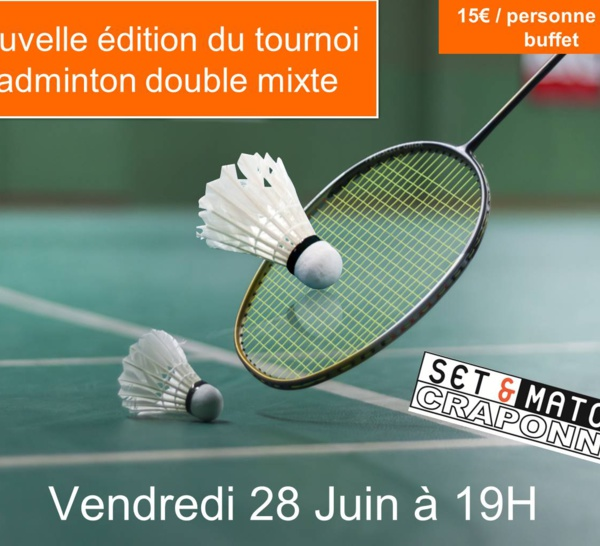 Tournoi Badminton Double Mixte