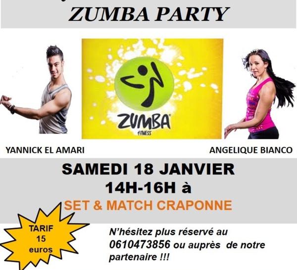 Stage Zumba Samedi 18 Janvier de 14h00 à 16h00